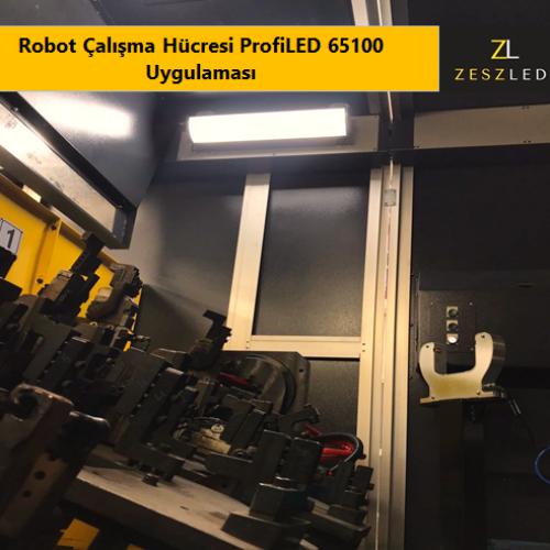 Robot Çalışma Hücresi ProfiLED 65100 Uygulaması